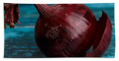 Red Onions Beach Towel by Nailia Schwarz
