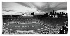 Soldier Field Football, Chicago Beach Towel by Panoramic Images