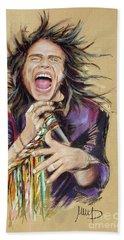 Steven Tyler  Beach Sheet by Melanie D