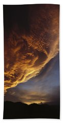 Sunset On Storm Clouds Near Mt Cook Beach Sheet by Ian Whitehouse