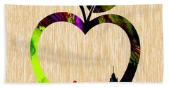The Big Apple New York Skyline Beach Towel by Marvin Blaine