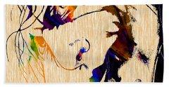 The Joker Heath Ledger Collection Beach Towel by Marvin Blaine