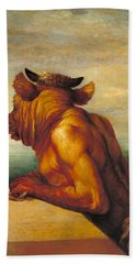 The Minotaur Beach Towel by George Frederic Watts