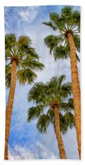 Three Palms Palm Springs Beach Sheet by William Dey