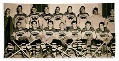 University Of Michigan Hockey Team 1947 Beach Towel by Mountain Dreams