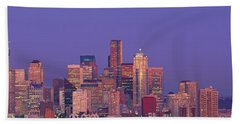 Usa, Washington, Seattle, Cityscape Beach Towel by Panoramic Images