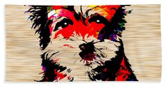 Yorkshire Terrier Beach Sheet by Marvin Blaine