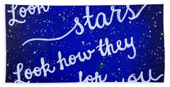 11x14 Look At The Stars Beach Sheet by Michelle Eshleman