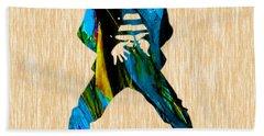 Elvis Presley Beach Towel by Marvin Blaine