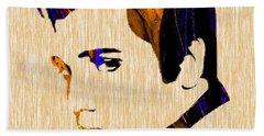 Elvis Beach Towel by Marvin Blaine