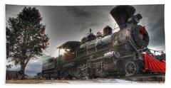 Beach Towel featuring the photograph 1880 Train by Bill Gabbert