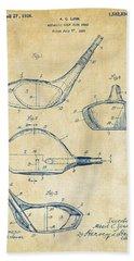 1926 Golf Club Patent Artwork - Vintage Beach Sheet by Nikki Marie Smith