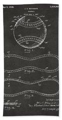 1928 Baseball Patent Artwork - Gray Beach Sheet by Nikki Marie Smith