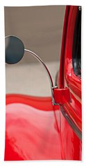 1940 Ford Deluxe Coupe Rear View Mirror Beach Sheet by Jill Reger