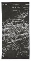 1946 Jet Aircraft Propulsion Patent Artwork - Gray Beach Sheet by Nikki Marie Smith
