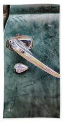 1950 Classic Chevy Pickup Door Handle Beach Sheet by Adam Romanowicz