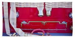 1952 L Model Mack Pumper Fire Truck Hoses Beach Sheet by Jill Reger