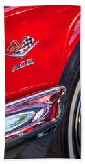 1962 Chevrolet Impala Ss 409 Emblem Beach Towel by Jill Reger