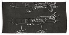 1975 Space Vehicle Patent - Gray Beach Towel by Nikki Marie Smith