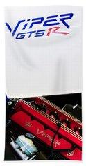 1998 Dodge Viper Gts-r Engine Beach Sheet by Jill Reger