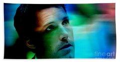 Ben Affleck Beach Sheet by Marvin Blaine