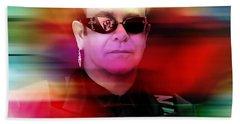 Elton John Beach Towel by Marvin Blaine