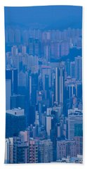 High Angle View Of Buildings Beach Towel by Panoramic Images