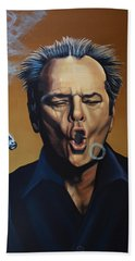 Jack Nicholson Painting Beach Towel by Paul Meijering