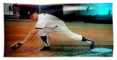 Mickey Mantle Beach Sheet by Marvin Blaine