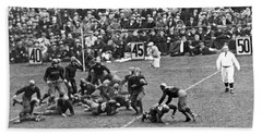 Notre Dame-army Football Game Beach Towel by Underwood Archives