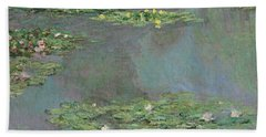 Nympheas Beach Towel by Claude Monet