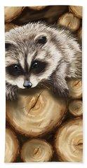 Raccoon Beach Sheet by Veronica Minozzi