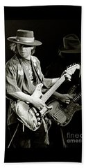 Stevie Ray Vaughan 1984 Beach Towel by Chuck Spang