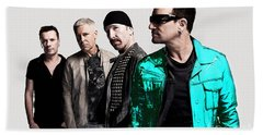 U2 Beach Towel by Marvin Blaine