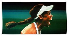 Venus Williams Beach Sheet by Paul Meijering