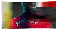 Wayne Rooney Beach Towel by Marvin Blaine