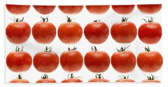 24 Tomatoes Beach Towel by Steve Gadomski