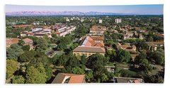 Aerial View Of Stanford University Beach Sheet by Panoramic Images