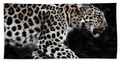 Amur Leopard Beach Sheet by Martin Newman