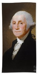 George Washington Beach Towel by Gilbert Stuart