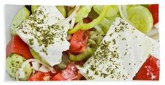 Greek Salad Beach Towel by Tom Gowanlock
