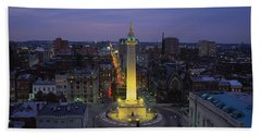 High Angle View Of A Monument Beach Towel by Panoramic Images