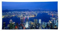 Hong Kong China Beach Towel by Panoramic Images