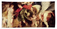 Perseus Liberating Andromeda Beach Sheet by Peter Paul Rubens