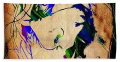 The Joker Heath Ledger Collection Beach Sheet by Marvin Blaine