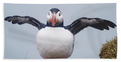 Atlantic Puffin Fratercula Arctica Beach Sheet by Panoramic Images