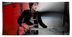 Bob Dylan Beach Towel by Marvin Blaine