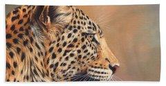 Leopard Beach Towel by David Stribbling