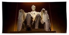 Lincoln Memorial At Night - Washington D.c. Beach Towel by Gary Whitton