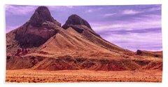 Navajo Nation Series Along 87 And 15 Beach Sheet by Bob and Nadine Johnston